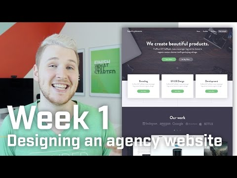 How to Design an Agency Landing Page (Week 1 of 12)