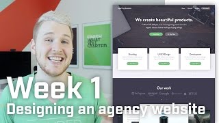 How to Design an Agency Landing Page (Week 1 of 12)(This is the first week in my design + front-end challenge. In this week's video I create a UI design for an agency website (a completely made up agency I named ..., 2016-02-04T14:00:01.000Z)