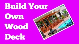 How to build a wood deck in your Garden :: Easy Woodworking Plans