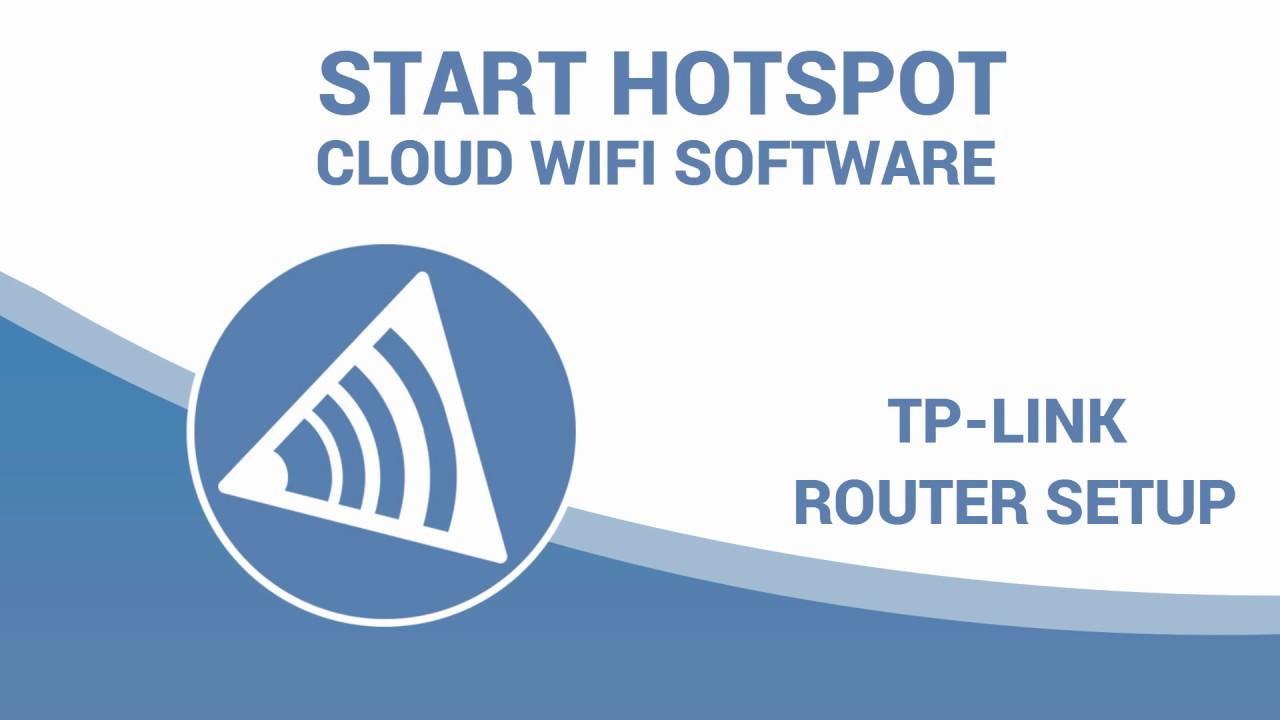 TP-Link I Start Hotspot Cloud WiFi software