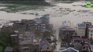 Супертайфун «Лекима» обрушился на Китай — видео