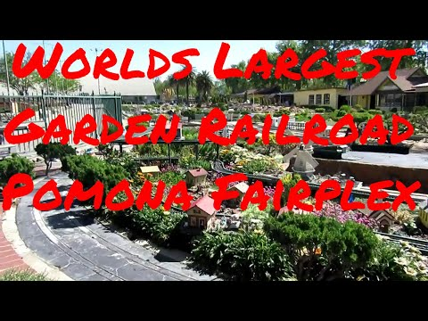 Worlds Largest Garden Railroad Pomona Fairplex Los Angeles Fair California