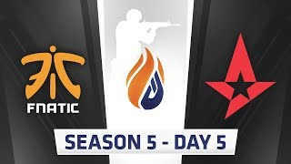 ECS Season 5  Day 5 - Fnatic vs Astralis, NiP vs Godsent // NRG vs Complexity, Liquid vs Optic thumbnail