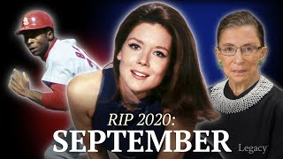 R.I.P. September 2020: Celebrities & Newsmakers who died | Legacy.com
