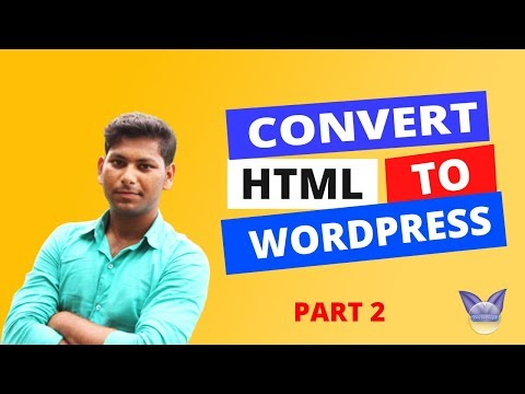 How to convert html to WordPress in Hindi // WordPress tutorial step by step in hindi thumbnail