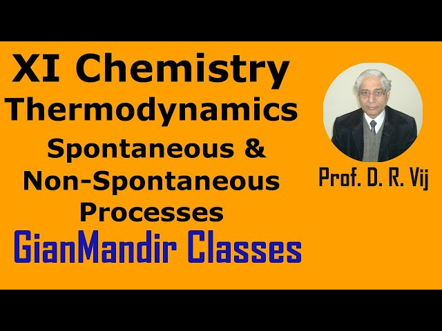 XI Chemistry | Thermodynamics | Spontaneous and Non-Spontaneous Processes by Ruchi Ma'am