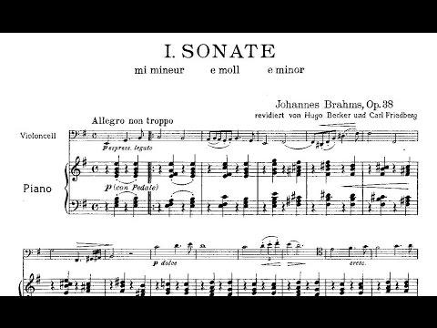 Johannes Brahms: Cello Sonata nº 1 Op. 38 (1865)