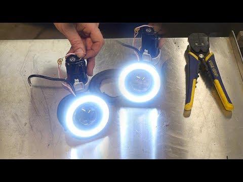 $13 ebay Halo LED fog Light install with Angel Eye LED ... Halo Projector Fog Light Wiring Diagram on
