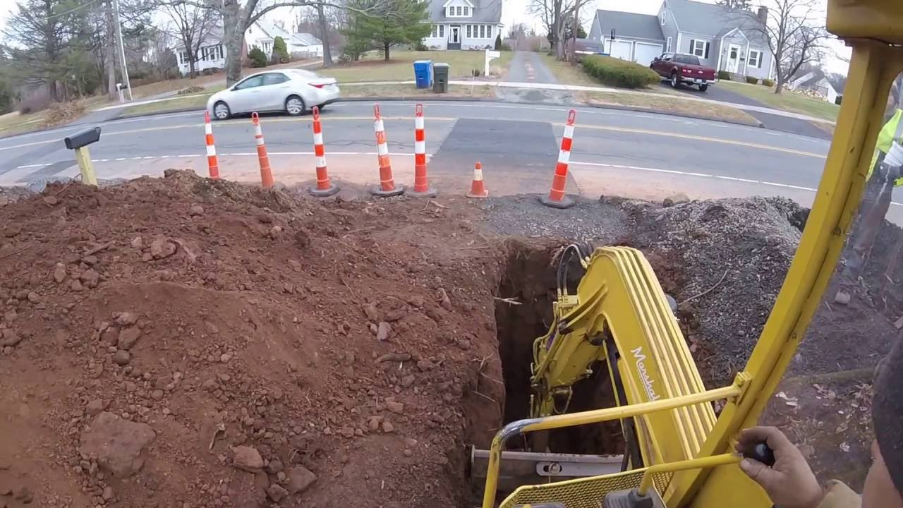 sewer trench dig