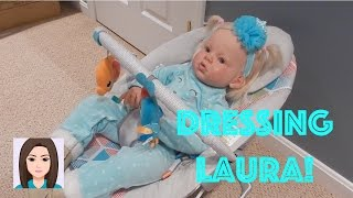 Dressing Reborn Toddler Laura! She Wants To Be Elsa!
