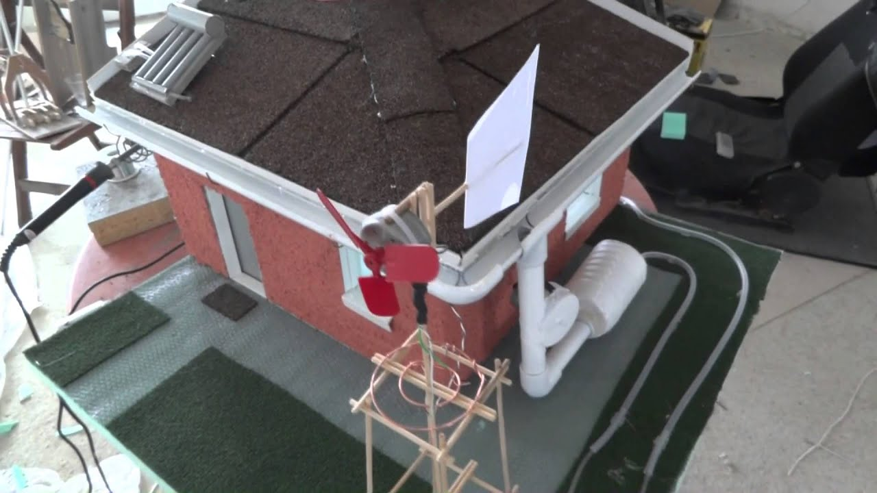 Solar mini house model youtube for How to build a solar panel for kids