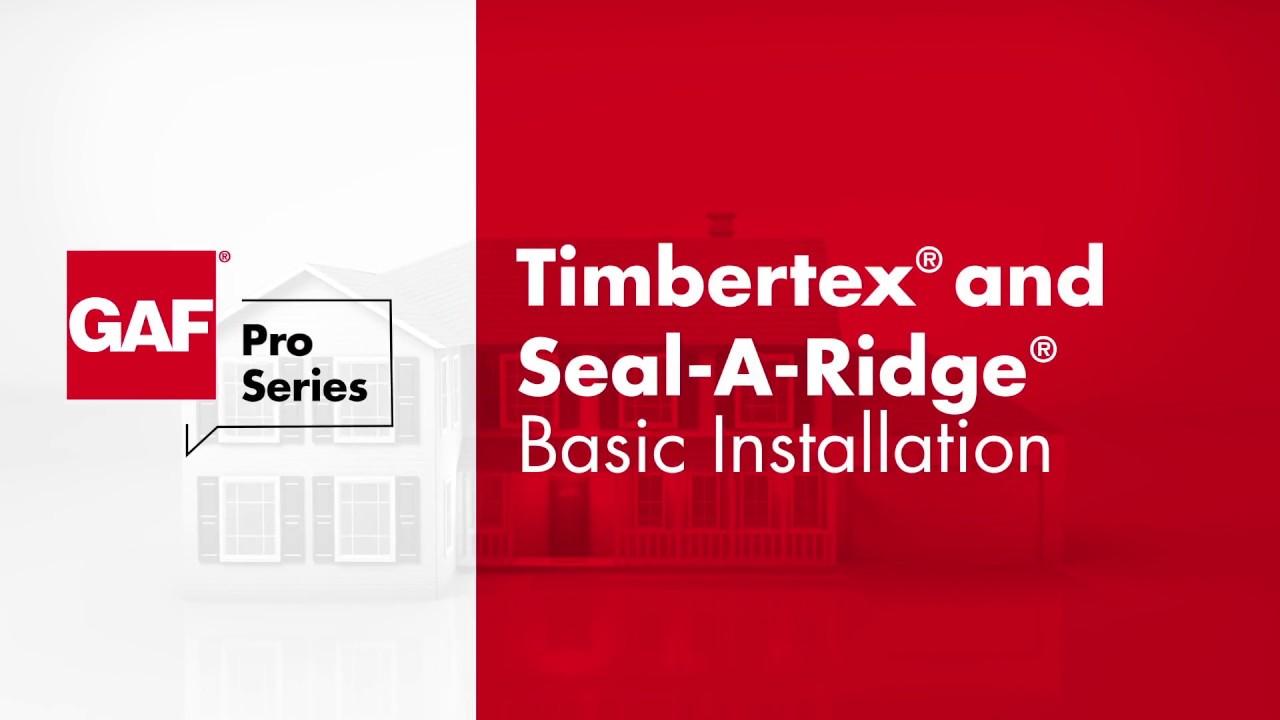 How To Install Gaf Timbertex And Seal A Ridge Shingles