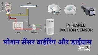 How to Install PIR Motion Sensor connection & Diagram