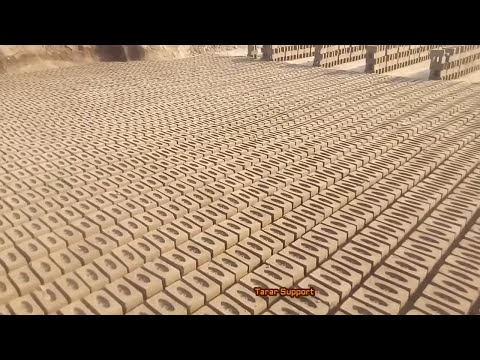 Manual Clay Bricks Classical Complete Process In India Pakistan kiln industry Documentary
