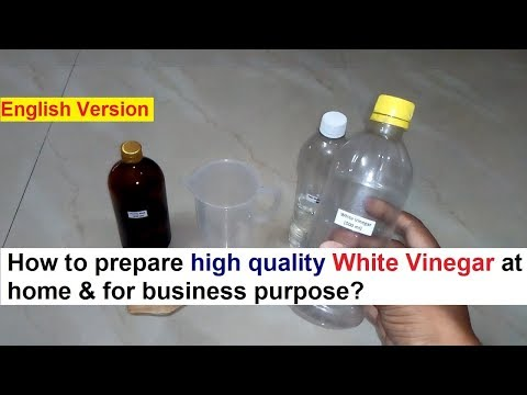 White Vinegar Making 100% Real Formula