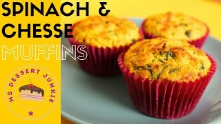 SPINACH AND CHEESE SAVOURY MUFFINS RECIPE   | MsDessertJunkie