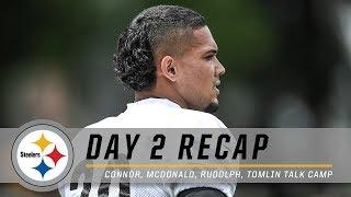 James Conner, Joe Haden, Mason Rudolph recap Day 2 | Pittsburgh Steelers Training Camp