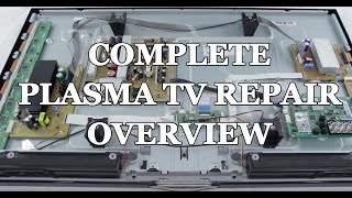 Plasma TV Repair Overview & Review - How to Identify Problems Tutorial - Board/Part Replacement