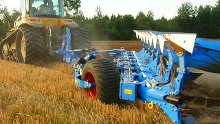 Powerful CAT Challenger + Lemken Diamant 11 ploughing
