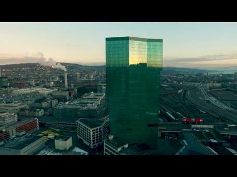 Zurich Primetower Drone in 4k (Ultra HD)