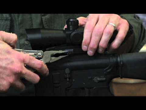 How to use the quick release mount on your rifle - YouTube