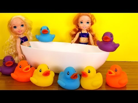 Flying Soap ! Elsa And Anna Toddlers - Bath - Shower - Bubbles - Water Fun
