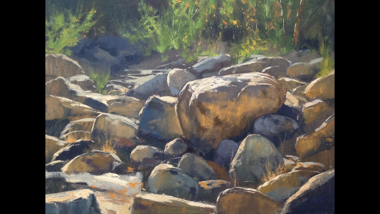 How To Draw River Rocks
