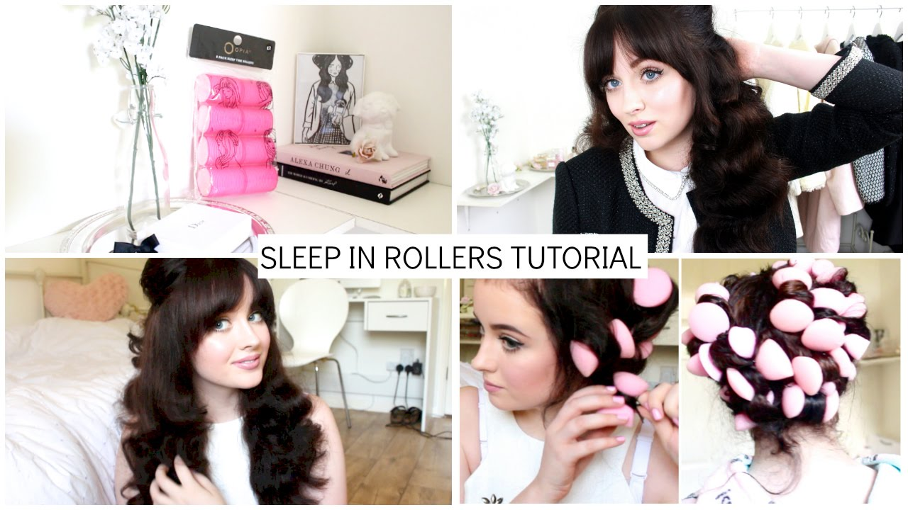 Overnight Heatless Curls Using Primark Sponge Rollers Becca Rose You