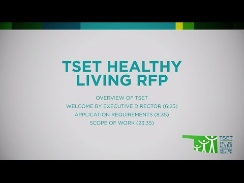 TSET Healthy Living Program Request for Proposals