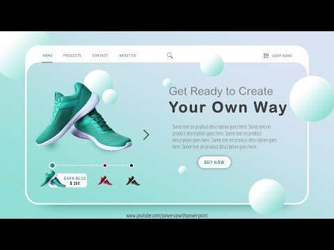 35.How To Design Landing Page Using PowerPoint 🔥🔥| WebPage Design In 10 Mins | Without HTML & CSS