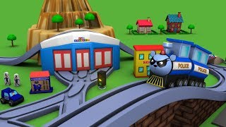 Trains for children - police cartoon for children - chu chu cartoon - Police car - Toy Factory thumbnail