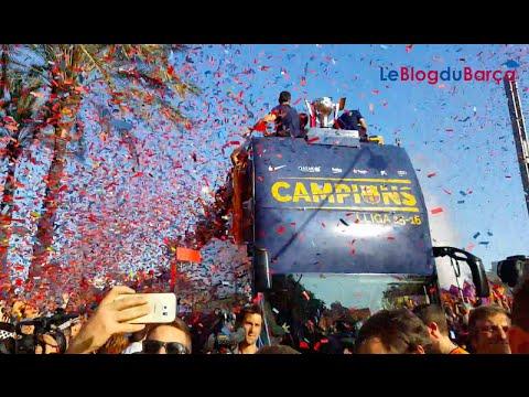 Célébrations de la Liga 2015 2016 du Barça à Barcelone