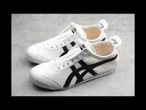 White And Black Summer Canvas Casual Shoes Asics Onitsuka Tiger