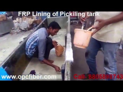 FRP Lining of Pickling Tank