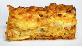Лазанья с рагу болоньезе и соусом бешамель. Рецепт от Всегда Вкусно!