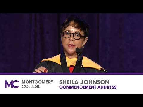 Sheila Johnson delivers the keynote speech at Montgomery ...