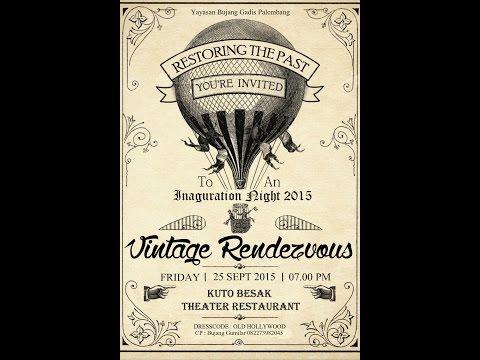 "Vintage Rendezvous ""Restoring The Past"" at Kuto Besak Theater Restaurant"
