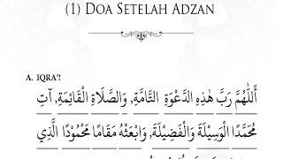 Belajar Terjemah Doa Setelah Adzan