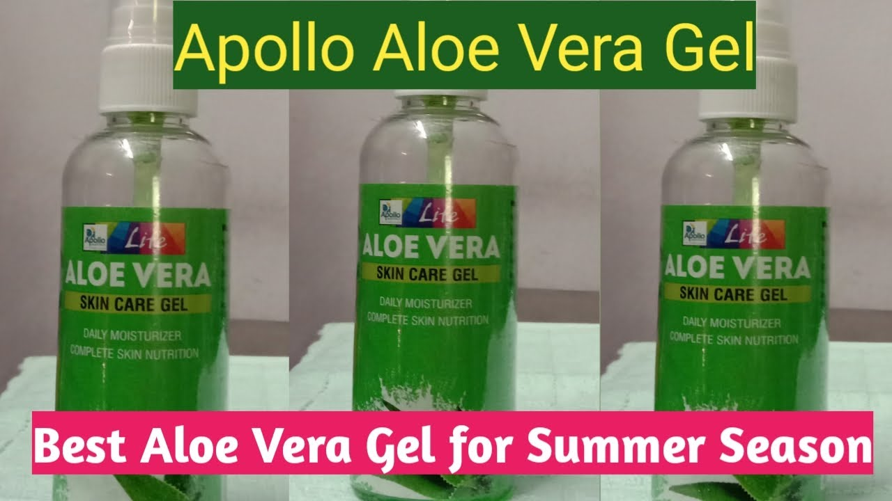 Apollo Aloe Vera Gel Review In Bengali Best Aloe Vera Gel For Summer Season Youtube