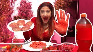 MANGIO CIBO ROSSO PER 24 ORE *EATING ONLY RED FOOD FOR 24 HOURS* Valentina Lattanzio