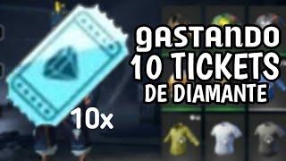 GASTEI OS 10 TICKETS DE DIAMANTE!!💎FREE FIRE