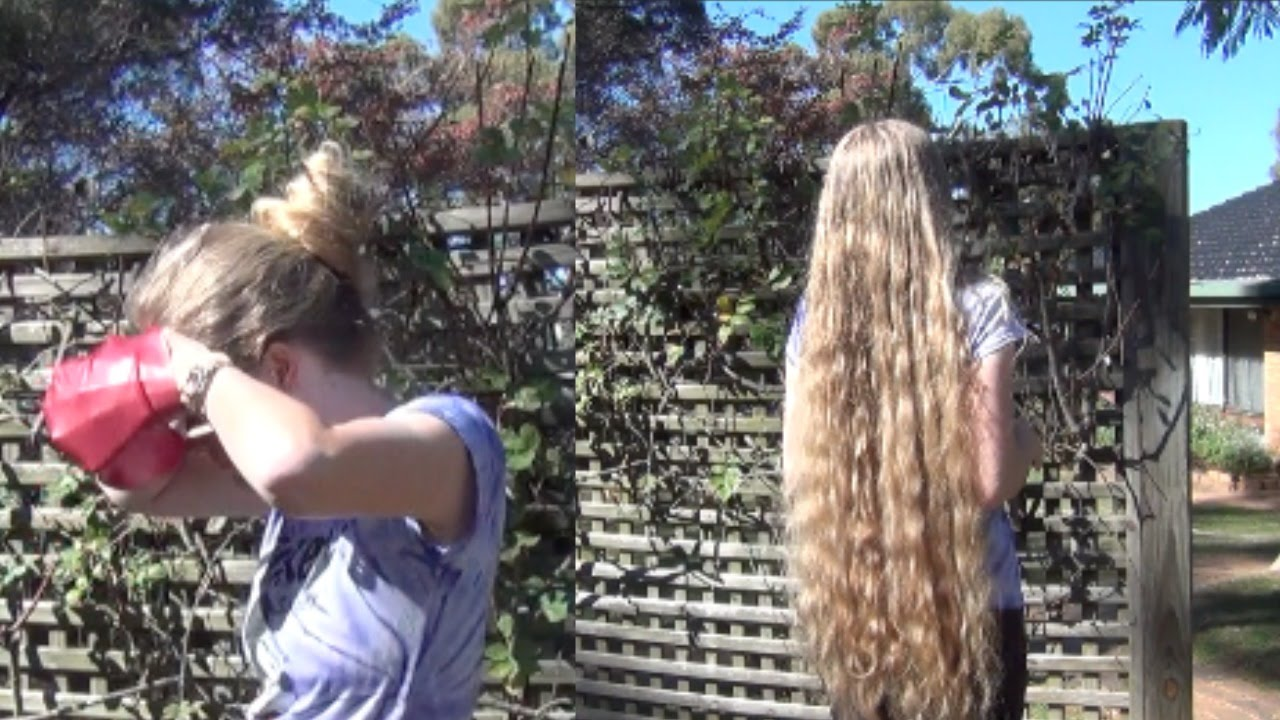 Extremely Long Hair Vs Swimming Cap Youtube
