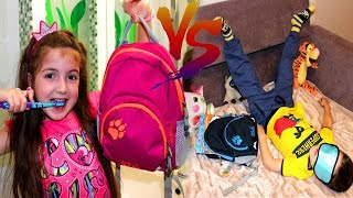 Vania and Mania go to School Morning