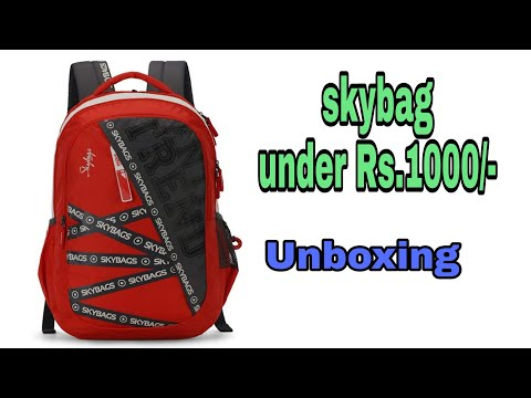 Skybags/Skybag under 1000rs/ Unboxing skybags