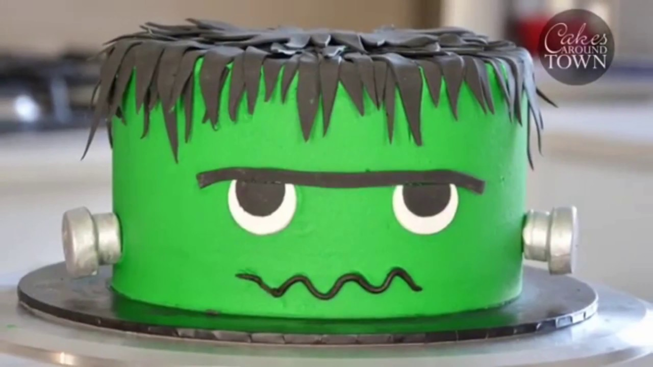 Frankenstein Birthday Cake Decoration Idea Step By Step Tutorials