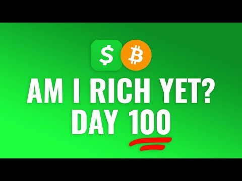Buying $1 Bitcoin Every Day With Cash App - DAY 100