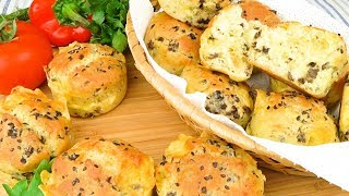 Закусочные кексы  с грибами и сыром | Snack cakes  with mushrooms and cheese