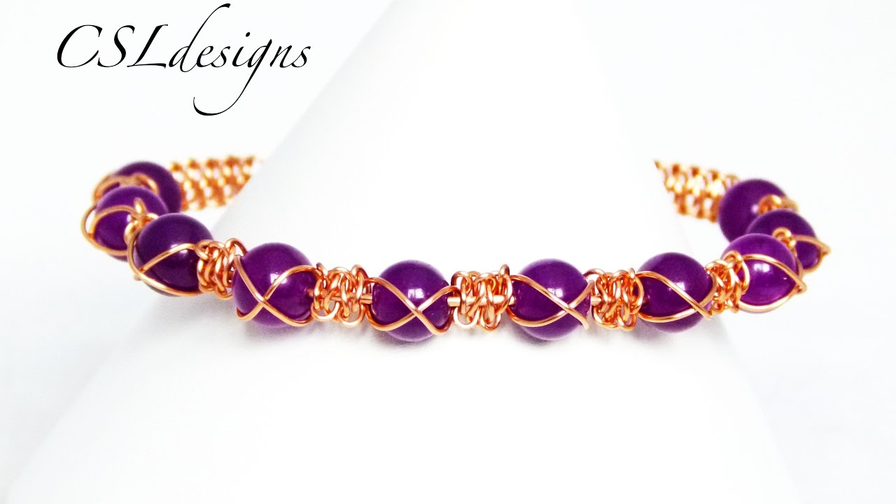 Cross wire macrame bracelet - YouTube