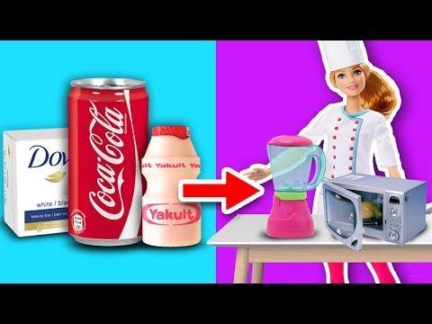 🍳 Crea MINI UTENSILIOS de COCINA para BARBIE 💖 Accesorios para muñecas - Manualidades Fantásticas