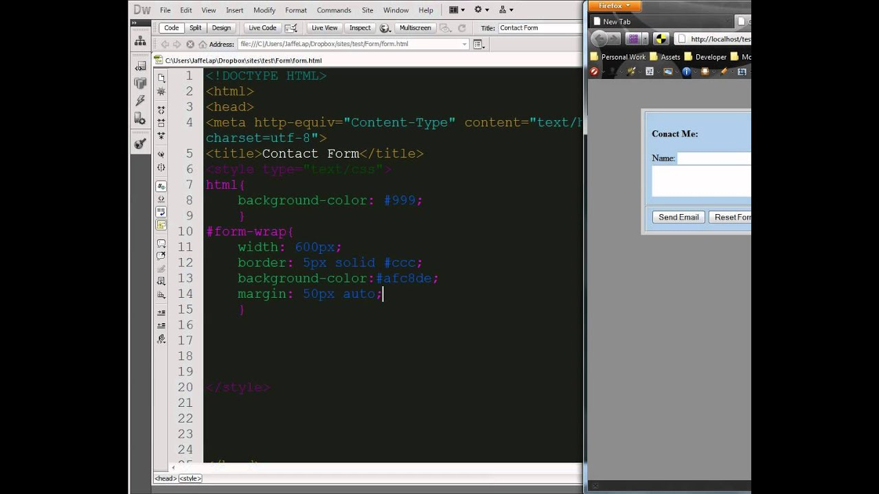 Basic Contact Form HTML and CSS - YouTube